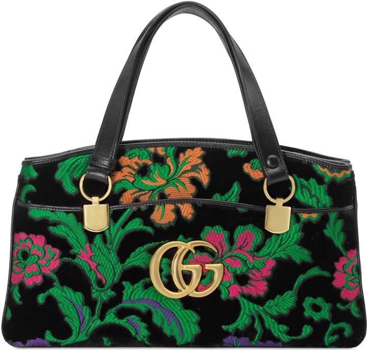Gucci Arli floral large top handle bag