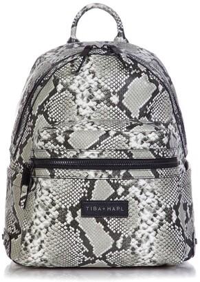 Tiba + Marl Snake-Print Backpack
