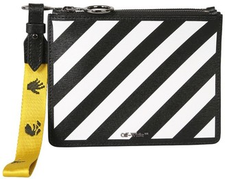 Off-White Leather Pouch