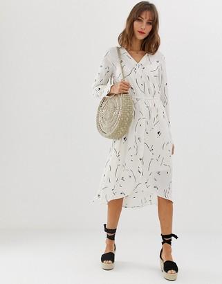 Vero Moda abstract printed shirt dress