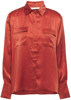 Maje Washed-silk Shirt
