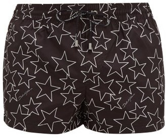 Dolce & Gabbana Star-print Swim Shorts - Black