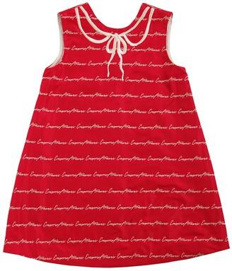 Emporio Armani Logo Jacquard Taffeta Party Dress