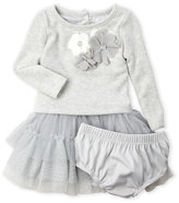 nanette (Newborn/Infant Girls) Two-Piece Popover Tiered Tulle Dress & Bloomers Set