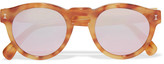 Illesteva Leonard Round-frame Tortoiseshell Acetate Mirrored Sunglasses - Brown