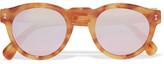 Illesteva Leonard Round-frame Tortoiseshell Acetate Mirrored Sunglasses