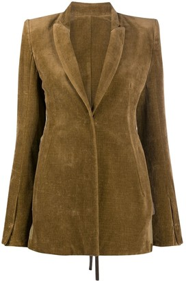 Ann Demeulemeester Reverse-Back Tailored Blazer