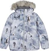 Molo Cathy Fur pony print jacket 4-12 years