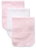 Kissy Kissy Infant Girls' Stripe & Solid Burp Cloths Set of 3