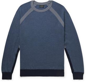 Club Monaco Colour-Block Wool-Blend Sweater