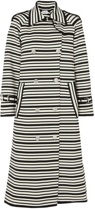 Sonia Rykiel Striped Cotton-blend Coat