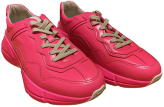 Gucci Rhyton Pink Leather Trainers