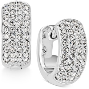 """Eliot Danori Silver-Tone Pave 1/2"""" Small Hoop Earrings s, Created for Macy's"""