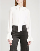 Alexis Gale tiered-detail silk-crepe blouse