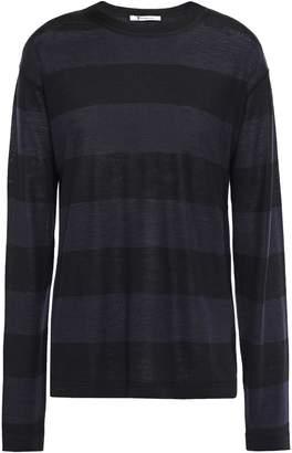 Alexander Wang Striped Merino Wool-blend Sweater