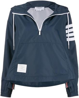 Thom Browne Asymmetric Hem Hooded Jacket