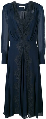 Chloé lace-trimmed dress