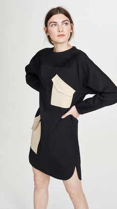 Tibi Bond Stretch Patched Dress