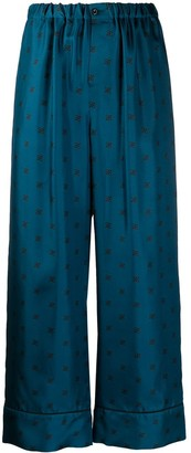 Fendi Karligraphy cropped trousers