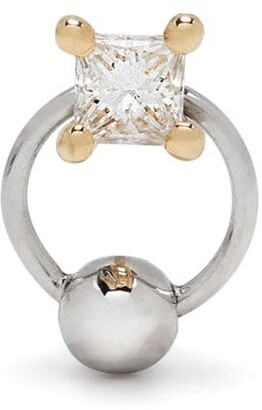 Delfina Delettrez 18kt gold diamond Two in One piercing earring