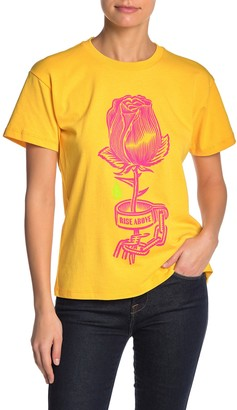 Obey Rose Shackle Graphic Print Crew Neck T-Shirt