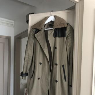 The Kooples Khaki Cotton Trench Coat for Women