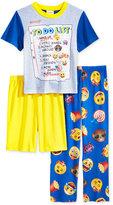 Emoji 3-Pc. To Do List Pajama Set, Little Boys (2-7) & Big Boys (8-20)