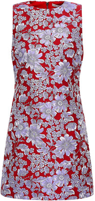 Alice + Olivia Floral-jacquard Mini Dress