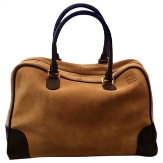 Loewe Amazona Camel Suede Travel bags