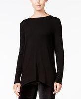 Kensie Colorblocked Zip-Detail Sweater