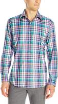 Bugatchi Men's Glen Plaid Button Down Shirt