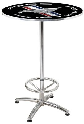 """27"""" Round Mustang Cafe Table Ford"""