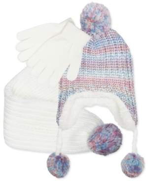 Fab Big Girls 3-Pc. Rainbow Ombre Hat, Scarf & Gloves Set