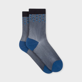Paul Smith Women's Navy Semi-Sheer 'Ava Spot' Socks