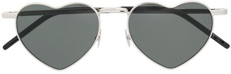 Saint Laurent Eyewear Heart Shaped Sunglasses