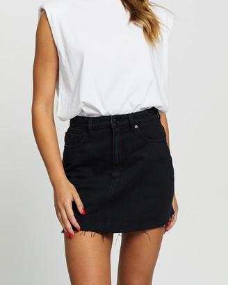Lee Women's Black Denim skirts - Lola Skirt - Size 10 at The Iconic