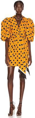 Johanna Ortiz Eccentric Words Mini Dress in Summer Mustard | FWRD