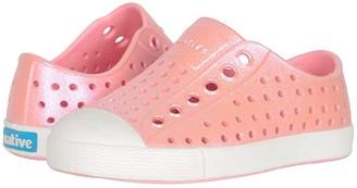 Native Jefferson Iridescent (Toddler/Little Kid) (Princess Pink/Shell White/Galaxy) Girls Shoes