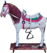 One Kings Lane Vintage Christmas Toy Horse Decoration