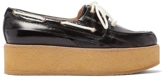 Gabriela Hearst Arthur Leather Flatform Loafers - Womens - Black