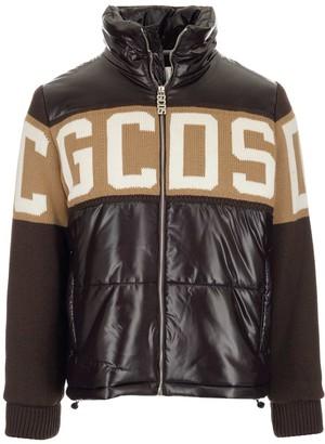 GCDS Zipped Logo Puffer Jacket