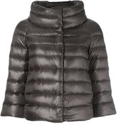 Herno cropped sleeve padded jacket - women - Cotton/Nylon/Polyamide/Goose Down - 40