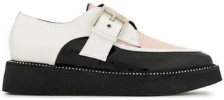 No.21 Colour-Block Buckle Loafers