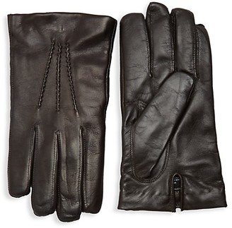Saks Fifth Avenue Touch Tech Leather Gloves