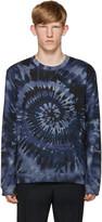 Valentino Blue Tie Dye Sweatshirt