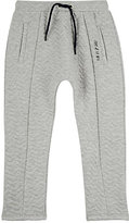 Sorry 4 the Mess Chevron-Quilted Cotton-Blend Jogger Pants-GREY