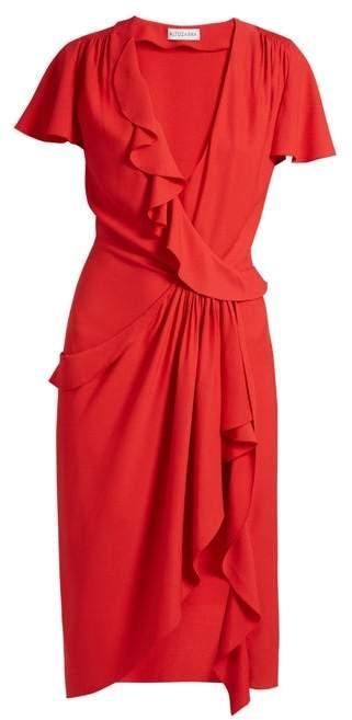 Altuzarra Mesilla Ruffled Silk Blend Dress - Womens - Red