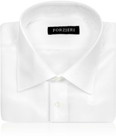 Forzieri White Pure Silk Dress Shirt