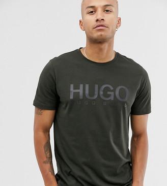HUGO BOSS Dolive logo t-shirt in khaki