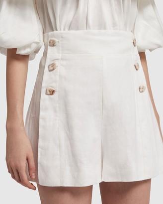 Aje Coda Buttoned Shorts